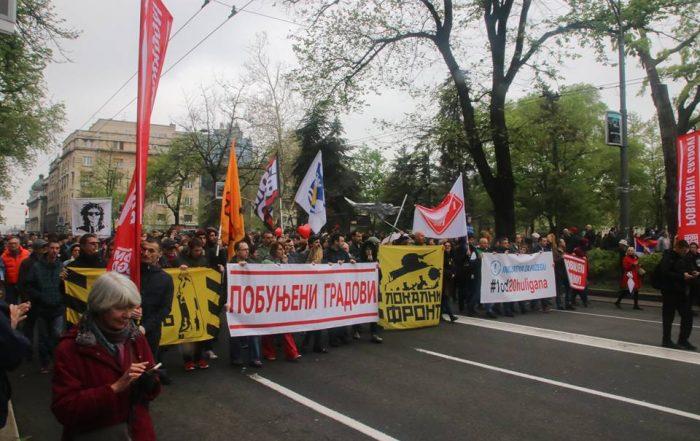 Грађански фронт на протесту