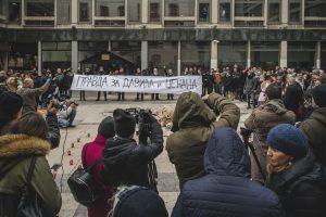 Skup podrske Davidu i Dzenanu u Beogradu