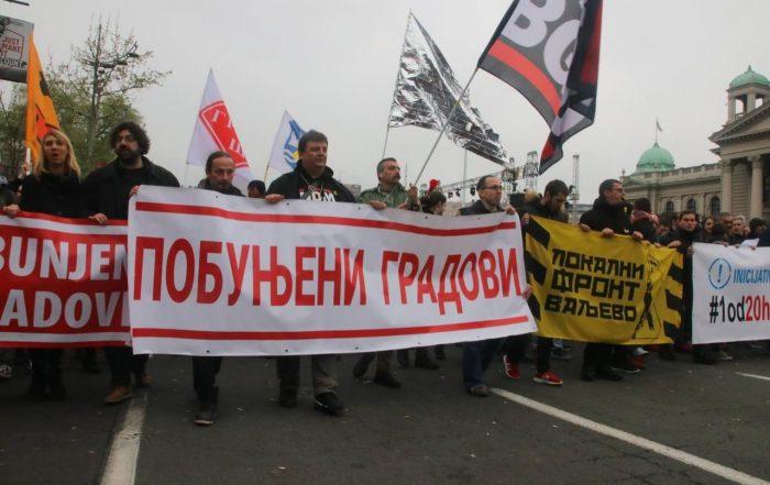 Gradjanski front protest